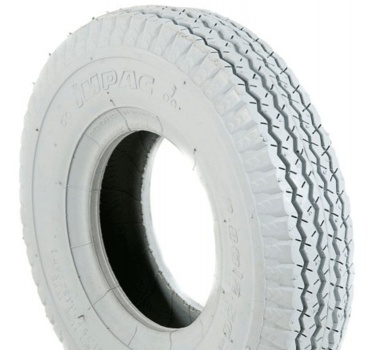 New 2.80/2.50-4 Grey Ribbed Pneumatic Tyre Tire For A Mobility Scooter
