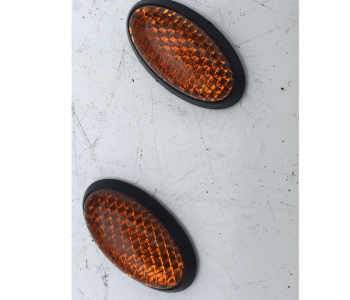 Used Pair Of Orange Stick On Round Reflector For Mobility Scooter B3232
