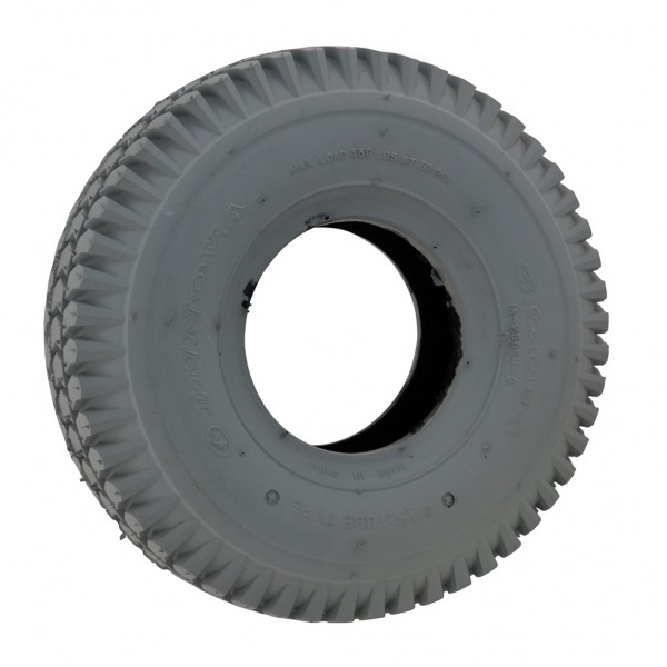New 300 x 4 Grey Innova Block Pneumatic Tyre For A Mobility Scooter