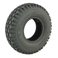 New 4.10/3.50-5 C156 63mm Grey Block Solid Tyre Tire Mobility Scooter