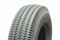 New 4.10/3.50-5 Grey Block Pneumatic Tyre Tire For A Mobility Scooter