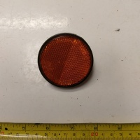 Used Orange Bolt On Round Reflector For Mobility Scooter S1620