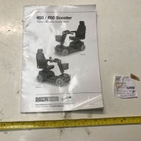 Used Owners Manual For A Rascal 450 or 650 Mobility Scooter S2088