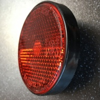 Used Red Bolt On Round Reflector For Mobility Scooter V387
