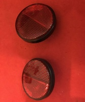 Used Red Bolt On Round Reflectors For Freerider Mobility Scooter T726