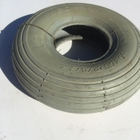 Used 260 x 85 Ribbed Tread Pneumatic Tyre For A Mobility Scooter - K21